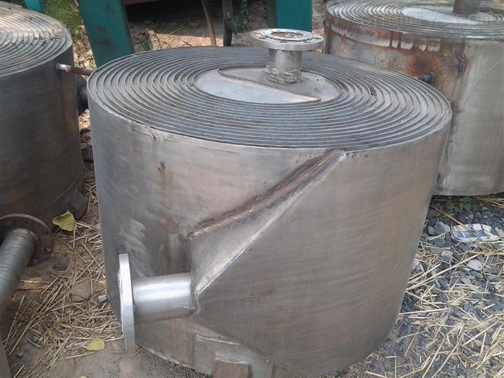长期大量回收50平方不锈钢螺旋板换热器