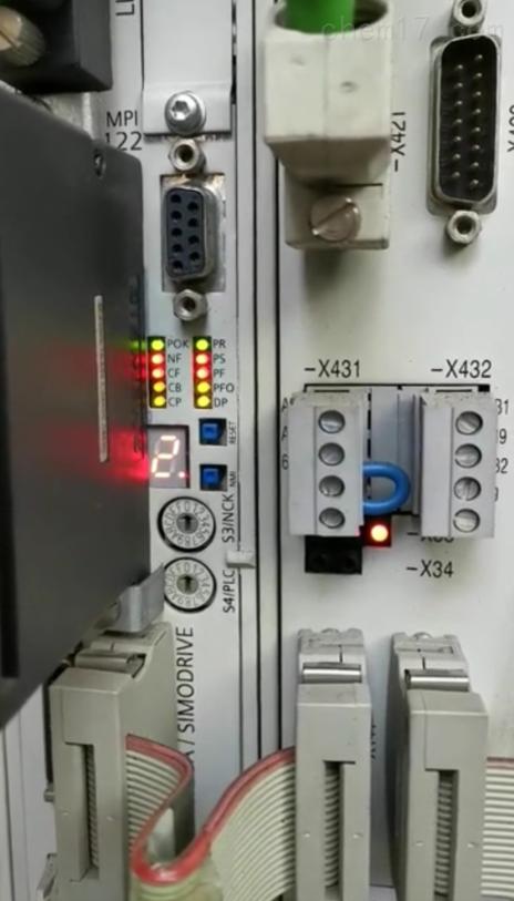 西门子数控立车NCU显示2状态灯全亮当天解决