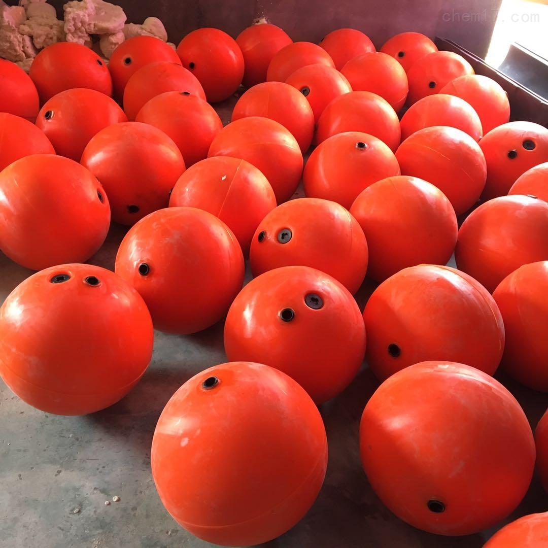 50cm海上警示球 大红色塑料浮球厂家