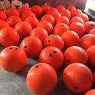 上海PE浮球廠家50cm海上警示球 大紅色塑料浮球廠家