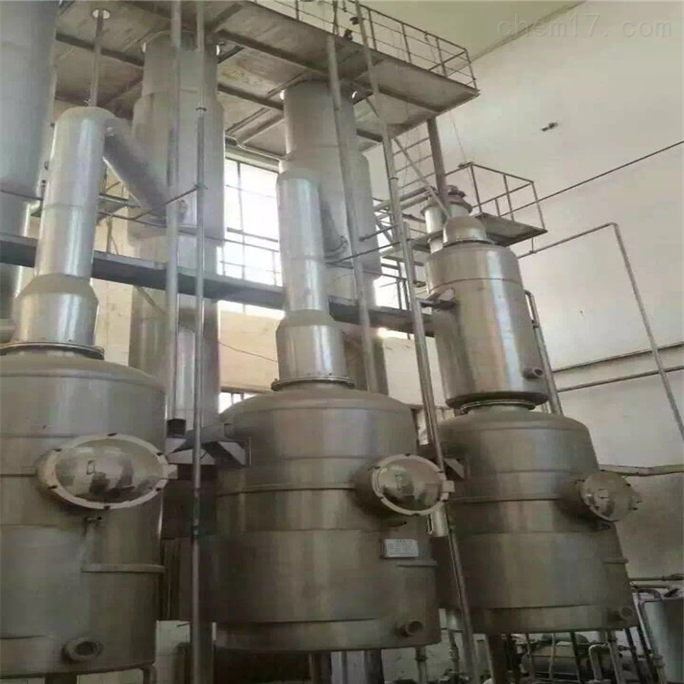 工厂处理30000升30吨二手三效降膜蒸发器