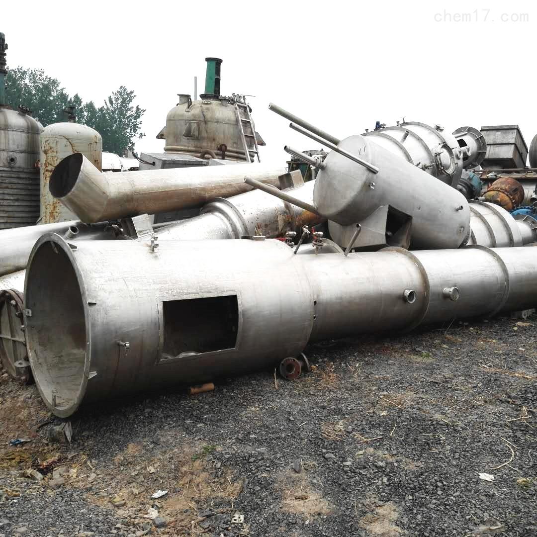 湖北处理5000升5吨二手三效四体降膜蒸发器