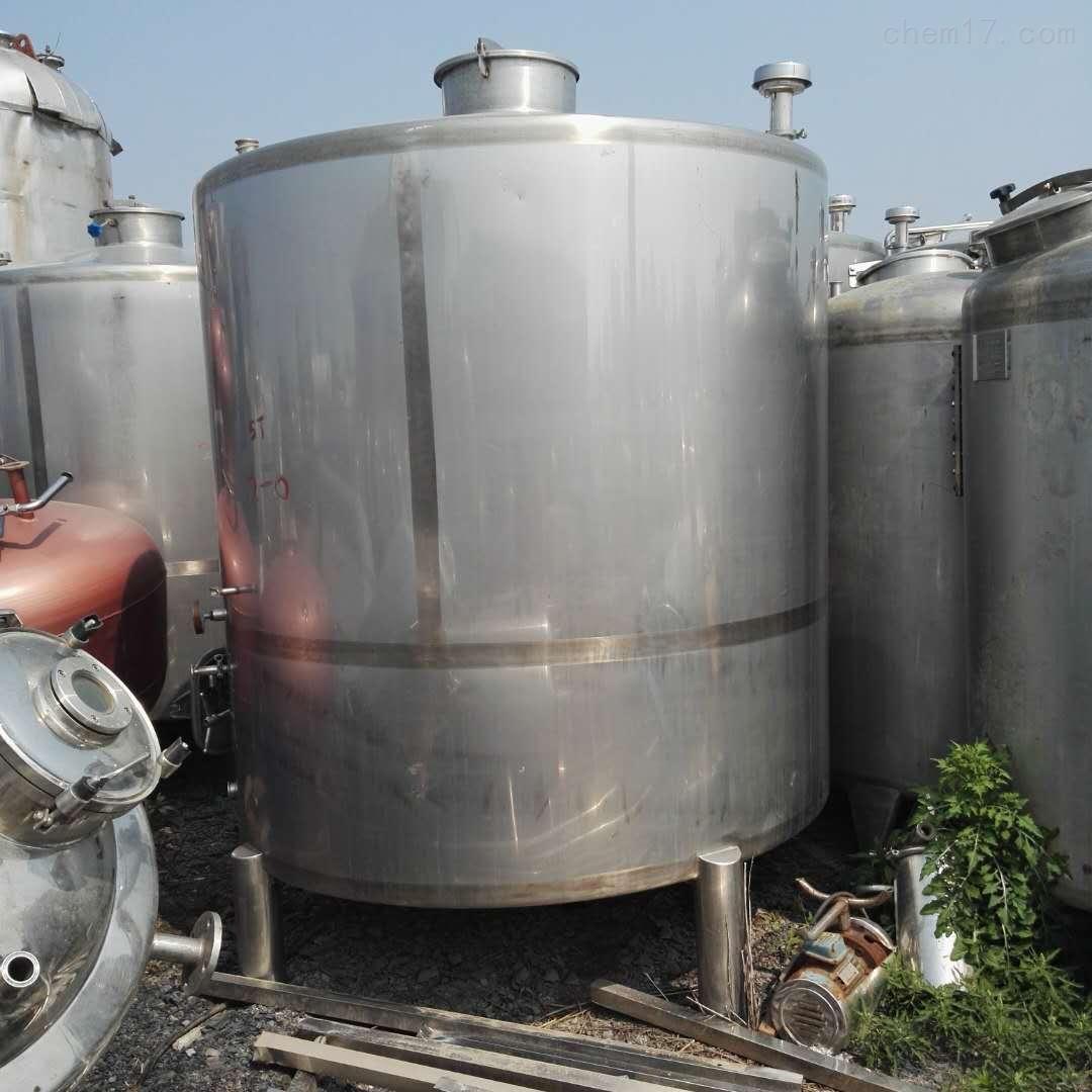 河北工厂转让10立方10吨保温加热不锈钢储罐