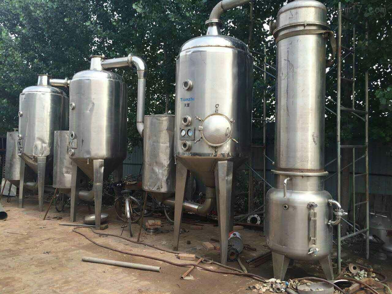 高价回收三效乳糖钛材降膜蒸发器规格