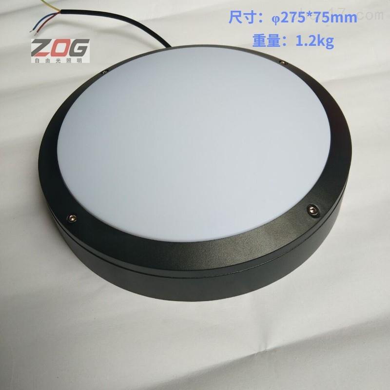 值班室LED防水防尘防腐圆形吸顶灯IP65