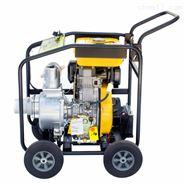 电启动3寸柴油机水泵推车式