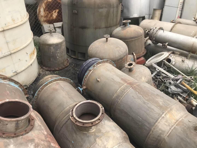 15吨二手双效钛材质蒸发器工厂萝卜价处理