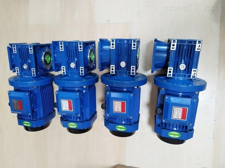 利政牌蓝色RV063蜗轮减速电机 三相电动机