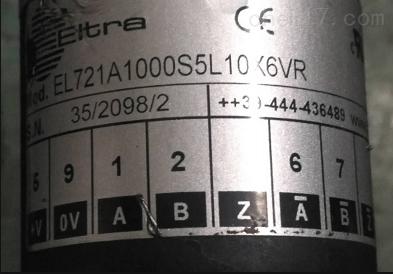 意大利ELTRA增量编码器EL721A1000SSL10K6VR