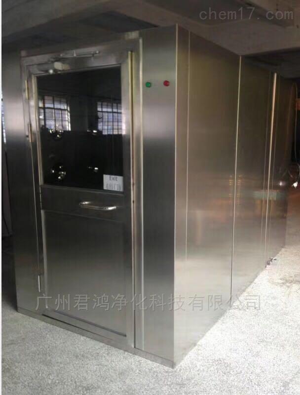 清远市90度转角风淋室 不锈钢或冷板材质