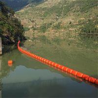 长条形水上漂浮物拦截 水面拦垃圾浮筒
