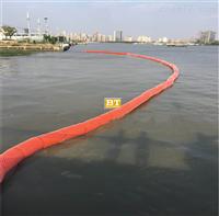 新疆水面塑料拦垃圾浮体河道清理杂物防护网