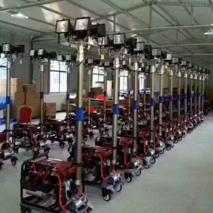 宁夏YSD950工程临时照明四个500W泛光升降灯