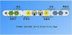TVVB扁行绞合型排列带屏蔽和钢芯扁形电梯电缆