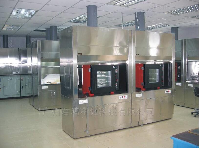 广西贵港通风柜钢木实验边台整体安装工程