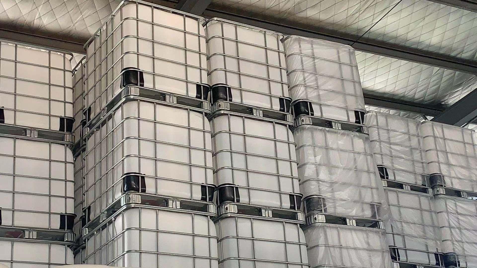 FDA白色吨桶 1000KG方桶 FSSC认证集装桶