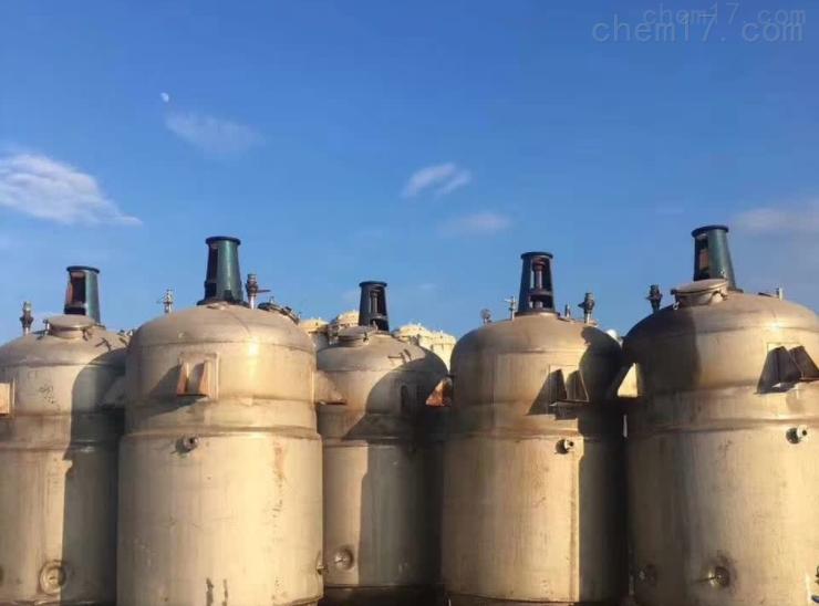 回收供应二手不锈钢反应釜价格