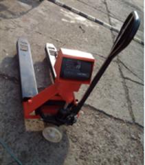 scs-yh1吨碳钢电子秤搬运车品牌2吨手推液压秤