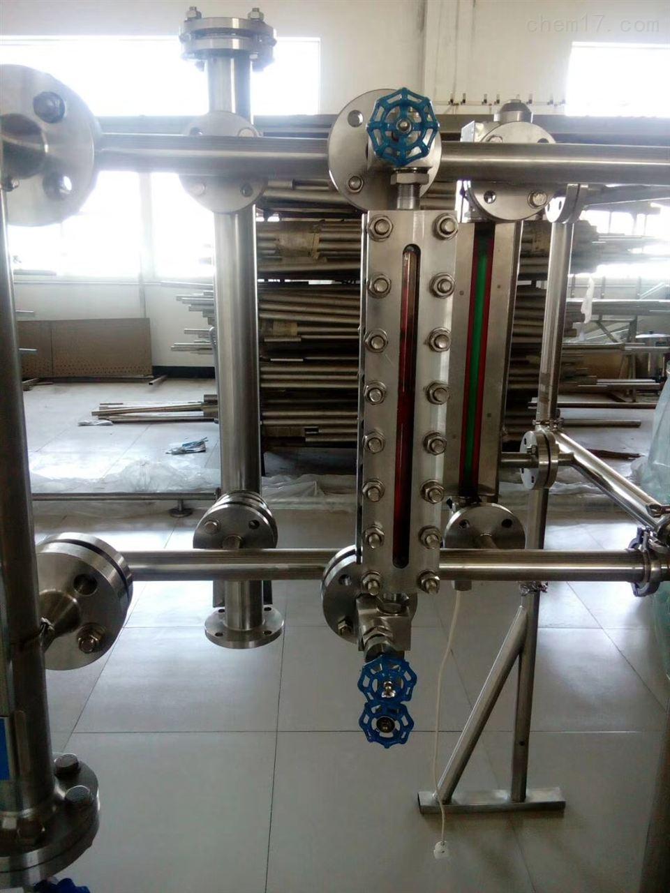 侧装磁浮子液位计安装方法