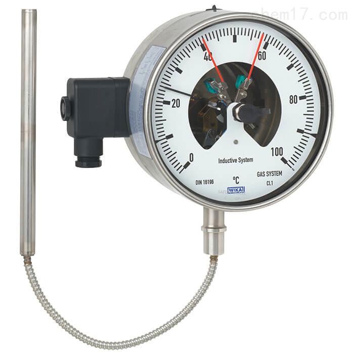 德国威卡WIKA温度计带电接点的气包式