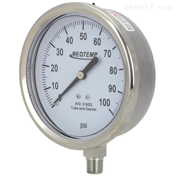 REOTEMP工业不锈钢压力表PM40系列