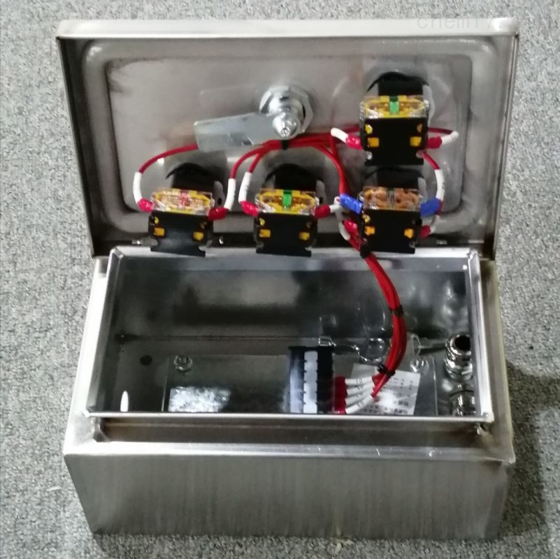 304不锈钢材质NLB-T4水泥厂带锁机旁按钮盒