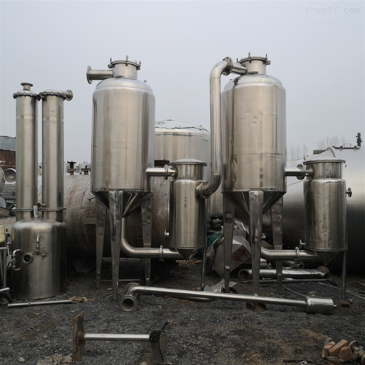 二手双效降膜蒸发器价格各种多效