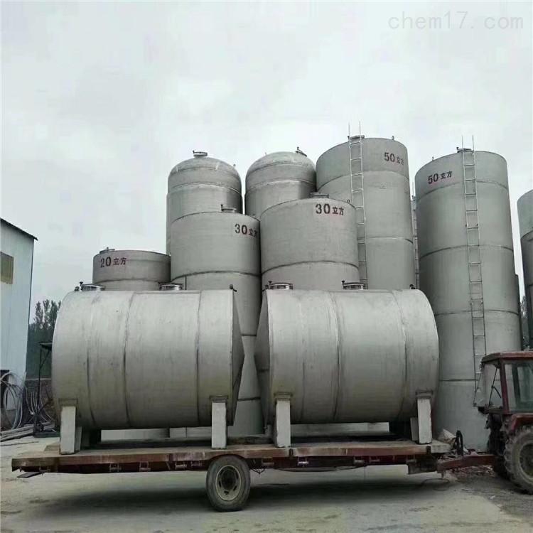 公司长年供应食品级304L二手不锈钢储罐