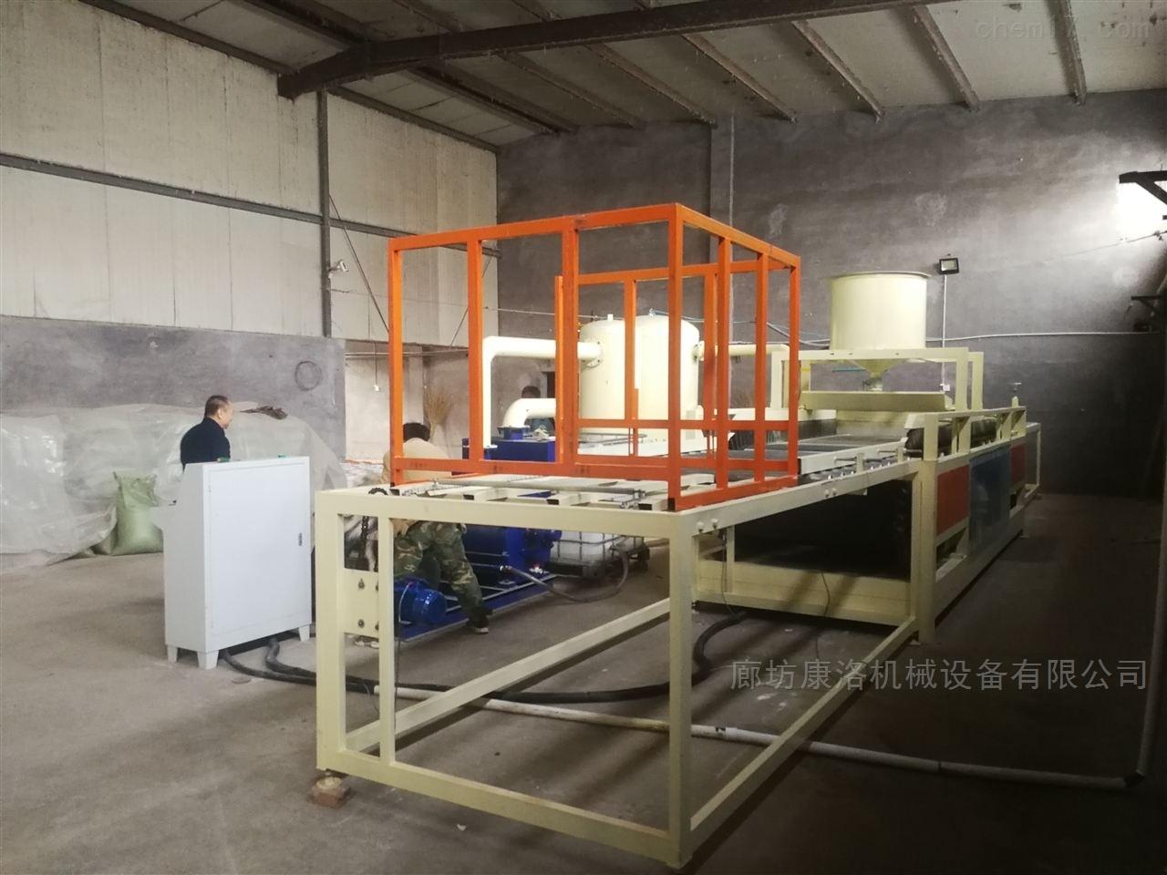 大型热固复合改性聚苯板设备-硅质板小料
