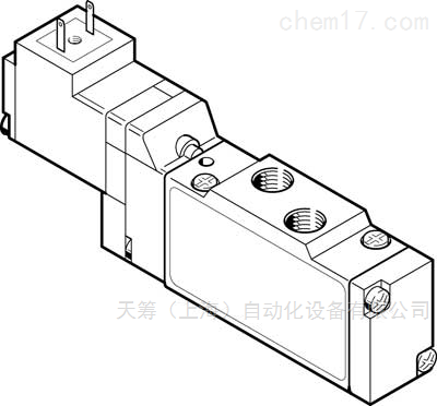 FESTO电磁阀半管式阀MEH-5/2-1/8-P-B