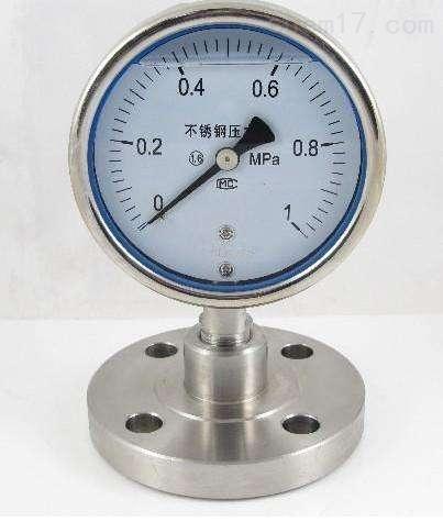 YP-100A膜片压力表