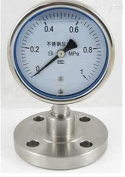 Y-100BFZ/Z/ML(B)/316隔膜压力表