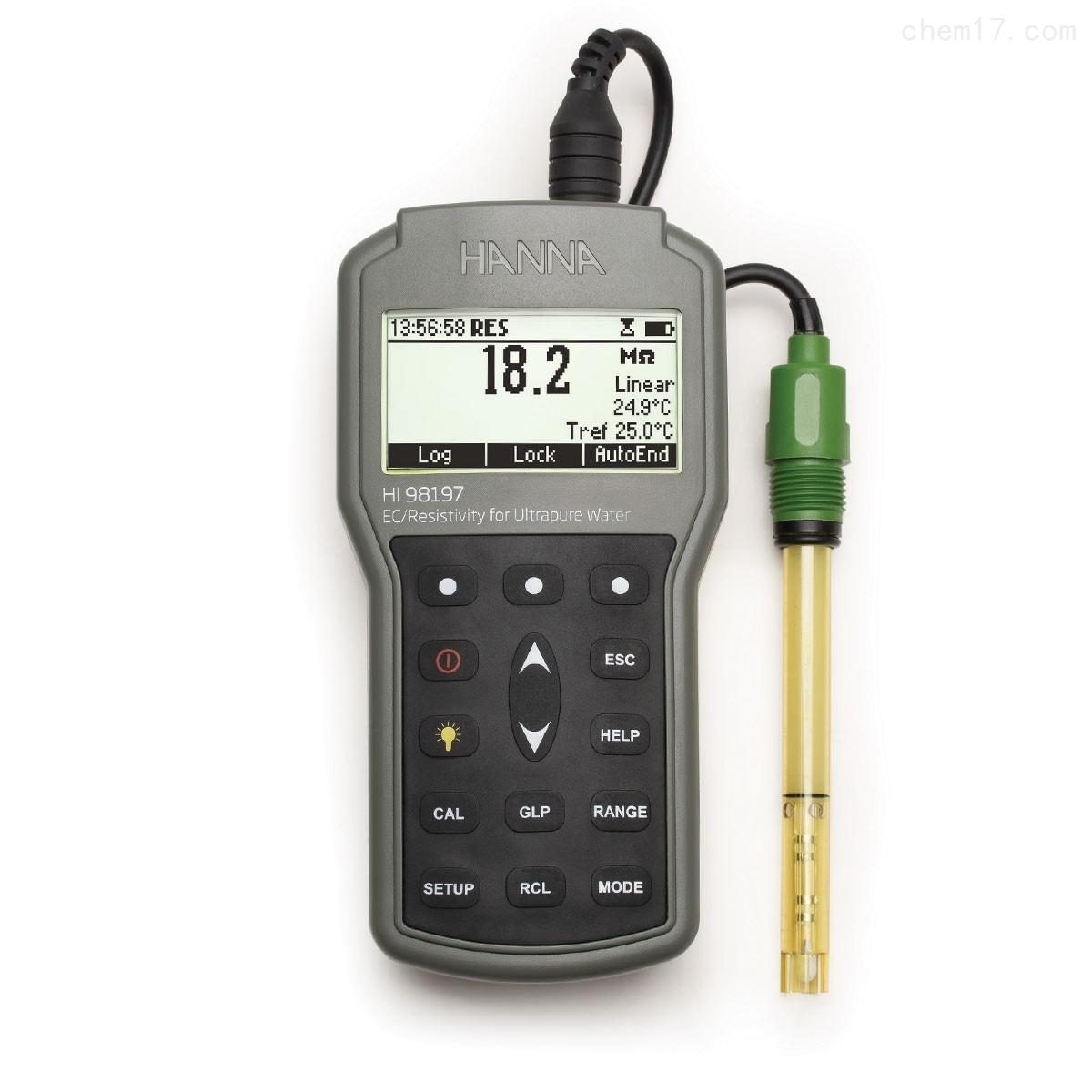HI98197 超纯水微电脑EC-TDS-电阻率测定仪