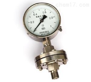 A隔膜式压力表