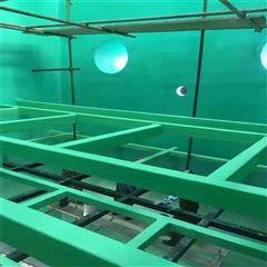 25kg/桶重防腐耐高温环氧玻璃鳞片胶泥污水池专用