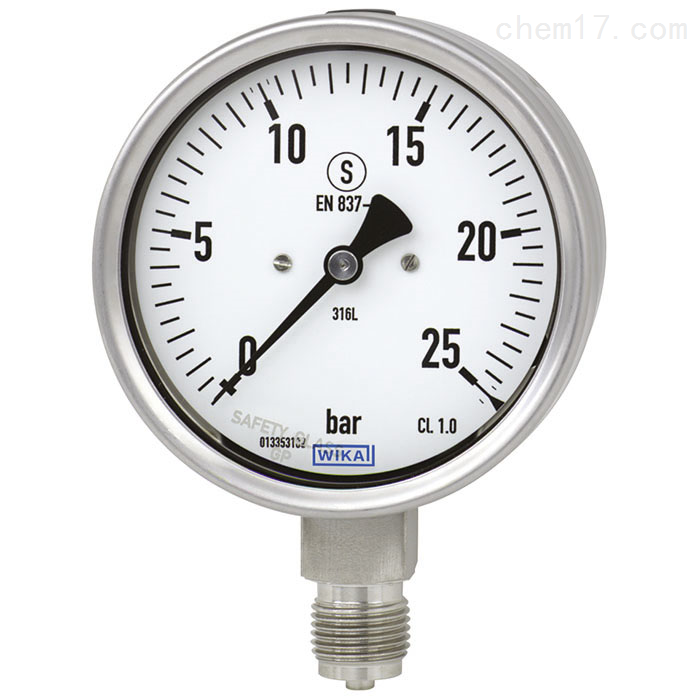 德国WIKA威卡不锈钢型波登管压力表