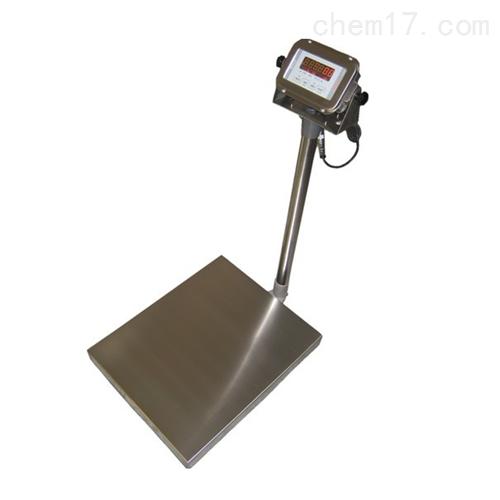 150kg防水型落地电子秤,不锈钢带轮子台秤