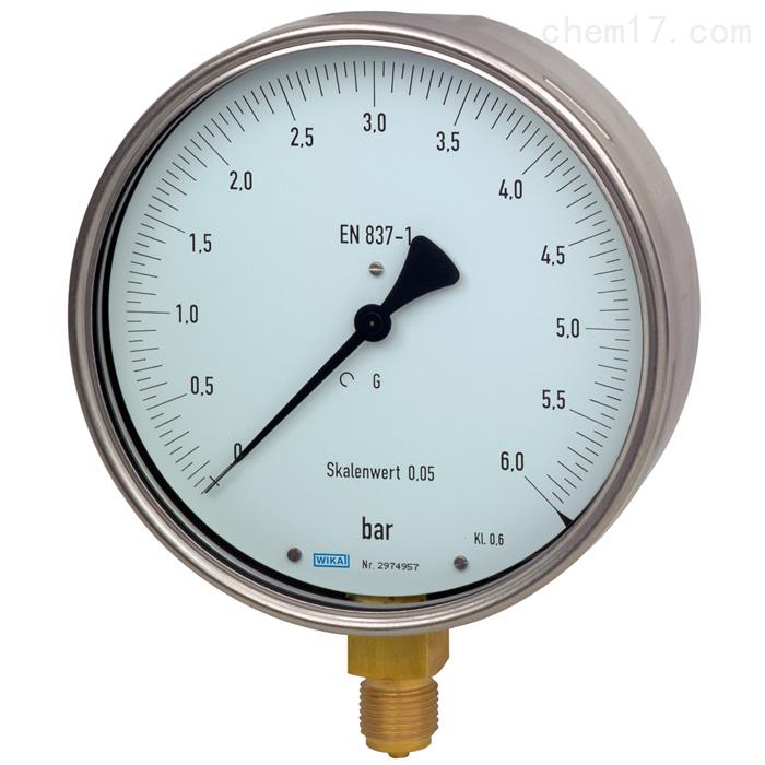 德国威卡WIKA铜合金测试压力表