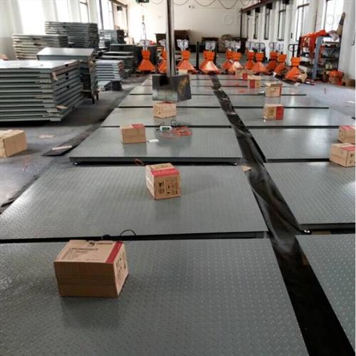双层3T电子平台秤,3000公斤碳钢花纹板地磅