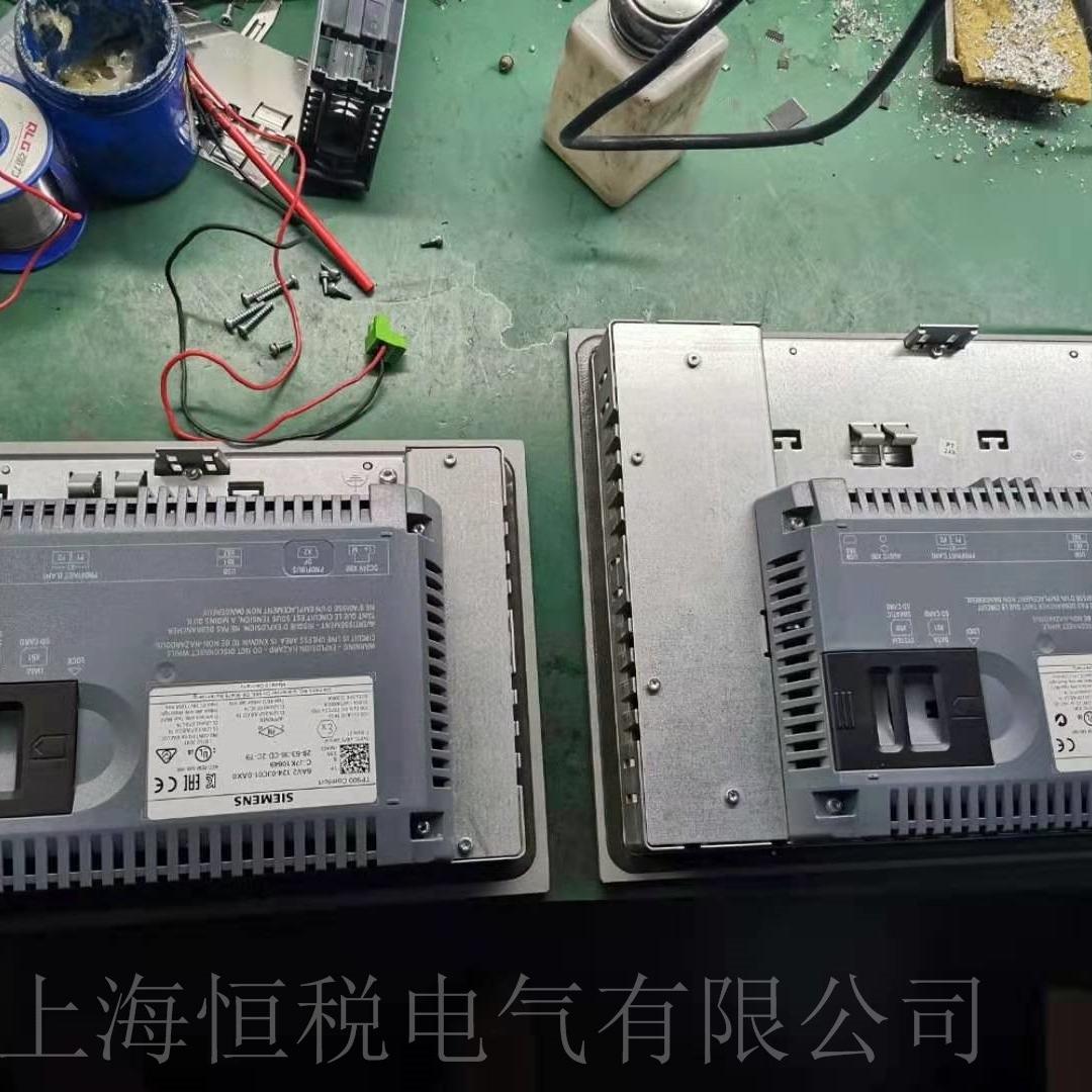 西门子MP377触摸屏上电无法启动维修方法