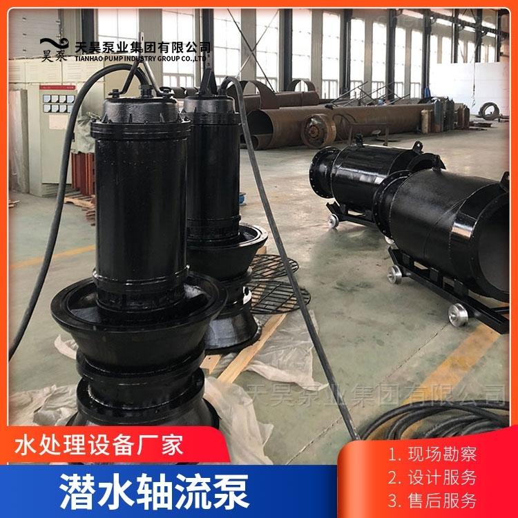 无阻塞1000QZB潜水轴流泵自动耦合安装