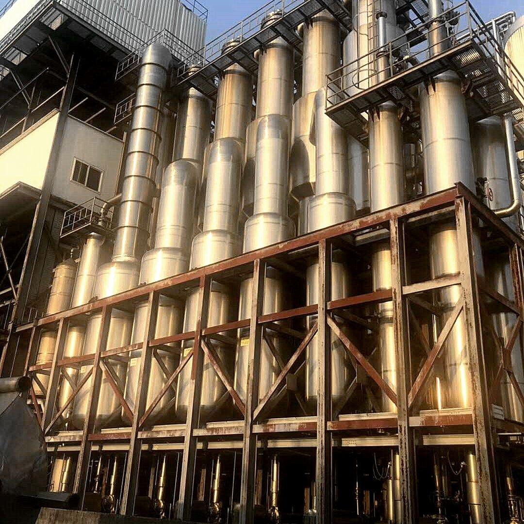 化肥厂二手三效降膜蒸发器价格