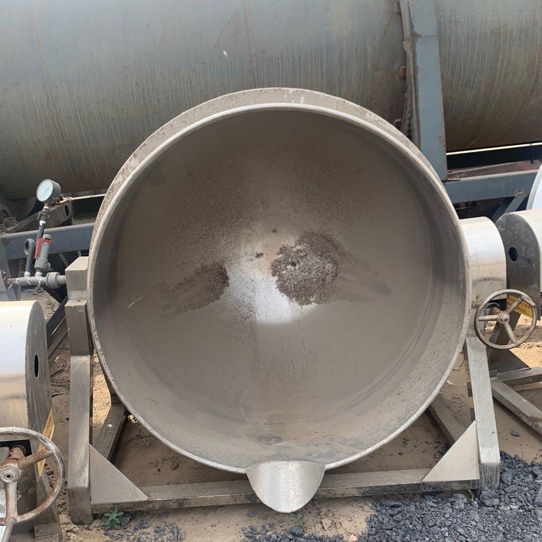 长期回收二手800型蒸汽夹层锅