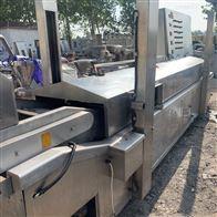 高价回收二手蒸汽加热连续式油炸生产线