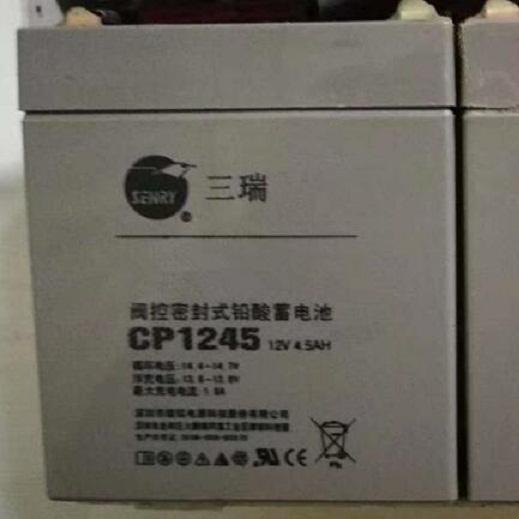 三瑞蓄电池CP1245区域代理