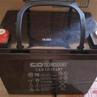 12V33AH大力神蓄电池C D12-33 LBT直流电源