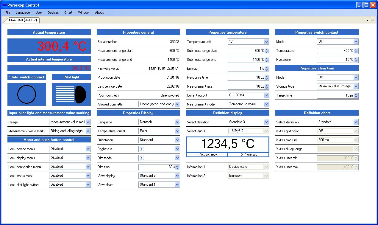 Pyroskop Control 软件