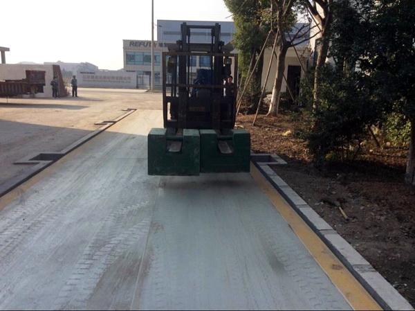 <strong>3.4x21m 大吨位宽体货车磅秤上海品牌车辆衡</strong>