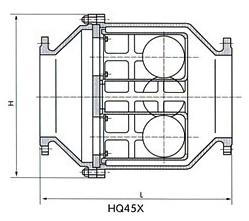 HQ45X微阻球形止回阀