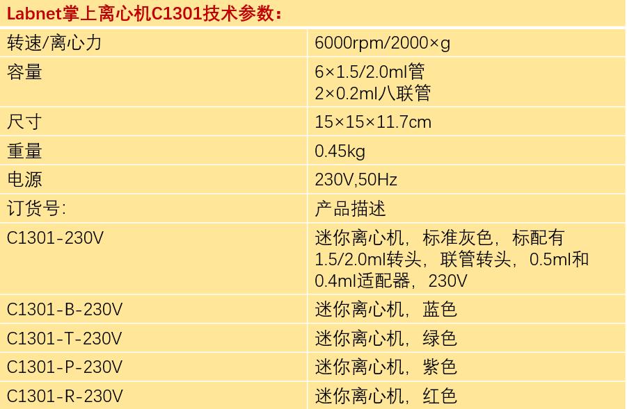 C1301迷你离心机价格